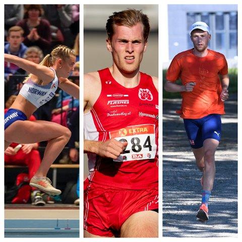 MOT OL: Alle disse tre jobber for å nå OL - en vakker dag. Fra venstre: Thale Leirfall Bremset, Fredrik Gerhardsen Øvereng og Mathias Flak.