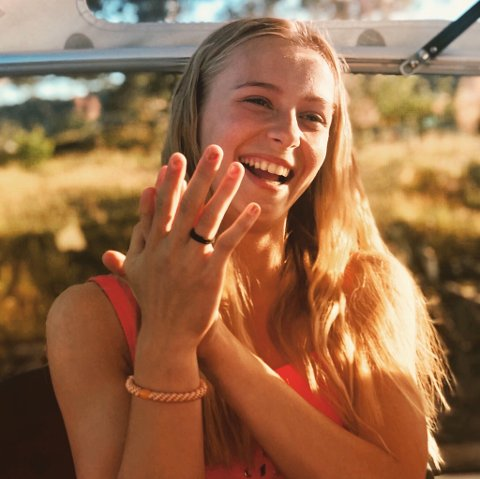Marthe Fresvik Abrahamsen ble overrasket og glad for å bli tatt ut til landslagssamling for 15-åringer.  Privat foto