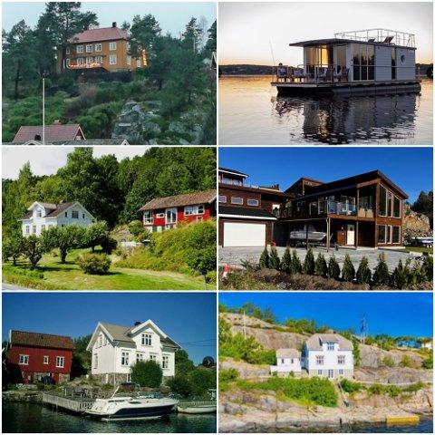 Dette er et utvalg av fritidseiendommene i vårt område som er til leie i sommer. Foto: Skjermdump Finn.no og Tvedestrandsposten