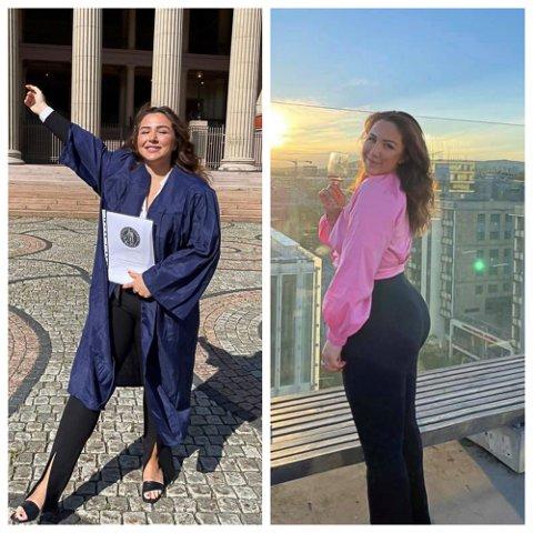 Monika Gjulbekjan oppnådde beste resultat på bacheloroppgaven. Nå skal hun ha en velfortjent sommerferie.