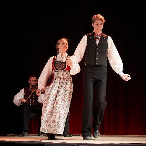 Vant: Ingrid Svænnes og Erland Voldhaug Andersen var best i si klasse og stakk av med seieren i dans hardingfele klasse C.