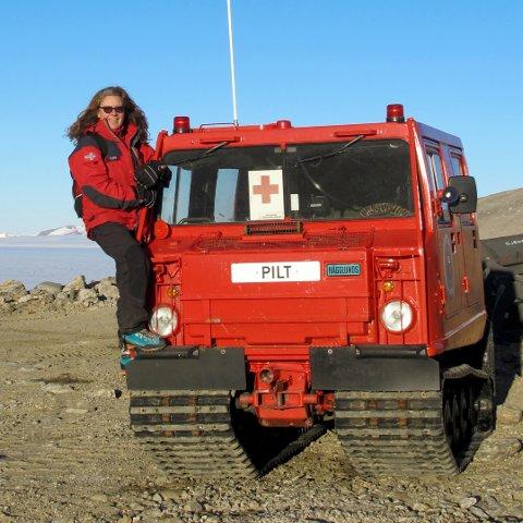 Lege i isødet: Tori Flaatten Halvorsen jobbet som lege på forskningsstasjonen Troll i Dronning Maud Land.
