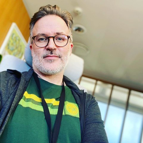 På jobb: Knut Aastad Bråten på jobb som statssekretær i kulturdepartementet.