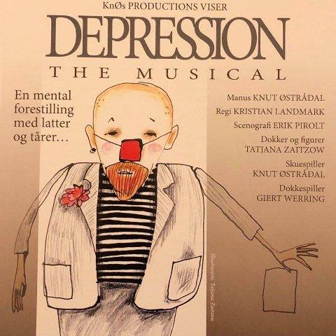 «DEPRESSION – THE MUSICAL». En tragikomisk forestilling om en deprimert klovn som finner veien ut av mørket. Forestillingen spiller i Lillesalen 10. oktober.