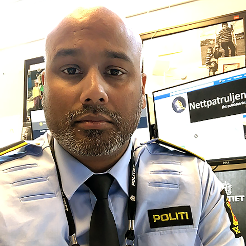 SVÆRT BEKYMRET: Ramesh Børjesson Satchi i politiets Nettpatrulje, er svært bekymret for bar som lever isolert med en overgriper i familien.