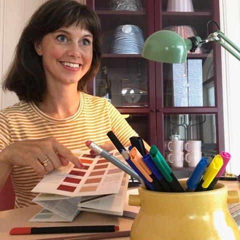 TIPS TIL DITT HJEMMEKONTOR: Interiørdesigner Anna Gran deler sine beste tips til hjemmekontoret.