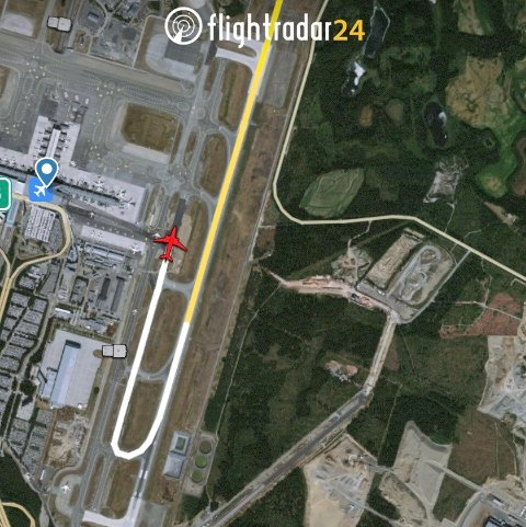 FLYET: Ryanair-flyet fra London har landet på Gardermoen.