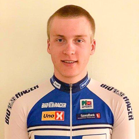 SA STOPP: Magnus Sørbø (17) er plaget av pollenallergi. Det ble hans bane i debuten i norgescupen søndag.