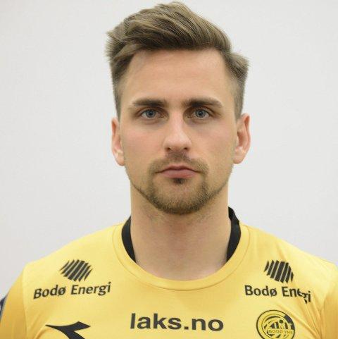 Oliver Sigurjónsson spiller fra start og er kaptein for Glimt mot Åga.