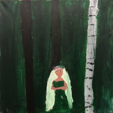 """""""I skogen"""": Av Sigrid Hybertsen Skahjem."""