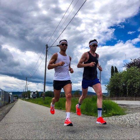 Lettløpt trasé: Lars Petter Stormo og Jarle Wermskog var blant de første som tok i bruk runden som lørdag skal brukes i Rekordløpet i Lier. Jarle Wermskog er klar for å stege ut i den rekordraske løypa i hjembygda førstkommende lørdag.