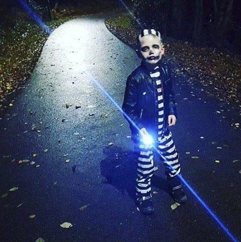 Halloween: Lise Solheim har tatt et tøft halloweenbilde en høstkveld. Lise er ukesvinner.