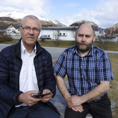 Gutta på tur: Fred Eliassen og Magne Vik har vært i Oslo.