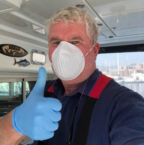 VERNEUTSTYR: Terje Wroldsen forteller at både han og Anniken Nordmo ombord i katamaranen Double Fantasy har det bra, er friske og ved godt mot.