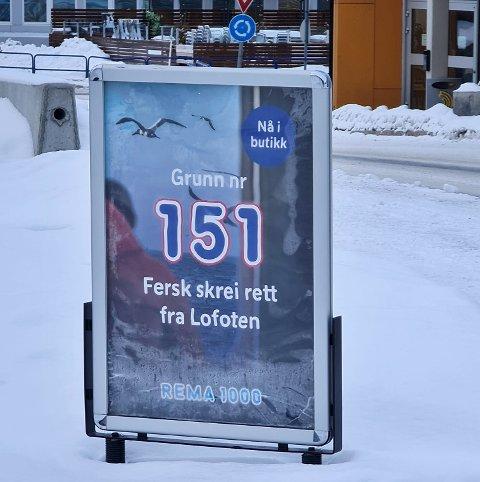 IRRITERER: For fiskebåtreder Rolf-Bjørnar Tøllefsen på Senja er denne reklamen som å banne i kirka.
