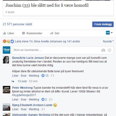 REAKSJONER: Saken om Joachim (33) har skapt reaksjoner på Facebook.