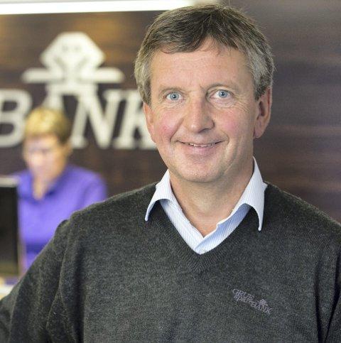 Fornøyd: Banksjef i Grue sparebank, Hans Petter Gjeterud.