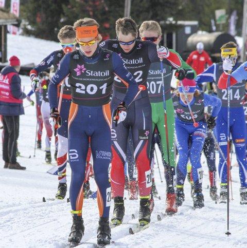 Sterk: Ansgar Evensen viste fram kjempekrefter mot slutten av løpet og sikret seg nok en Norgescupseier søndag. Foto: Henrik Hornnæss