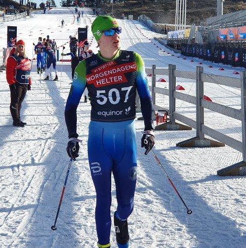 Andreas Sørsdal, Norges Cup for juniorer, Holmenkollen, i startområdet