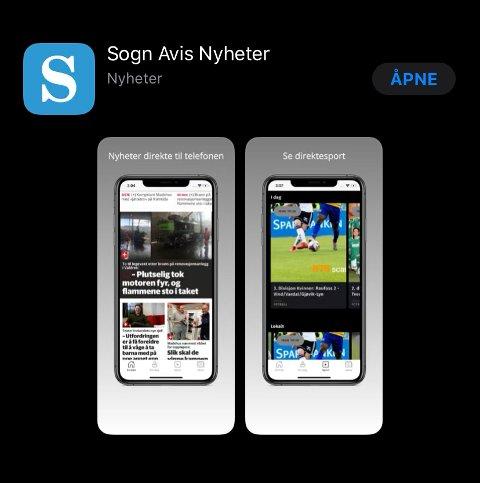 APP: Nyheitsappen kan du lasta ned til både iOS- og Androidtelefonar.