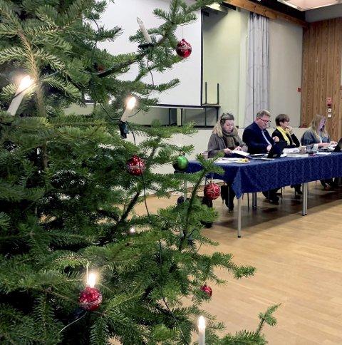 VEDTOK BUDSJETTET: Årets viktigste sak ble vedtatt i kommunestyret mandag kveld.