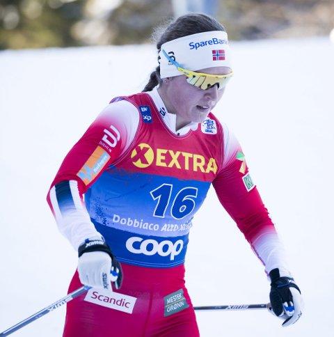 I TOPPEN: TIril Udnes Weng er nummer åtte i sammendraget da det gjenstår to renn av årets Tour de Ski.