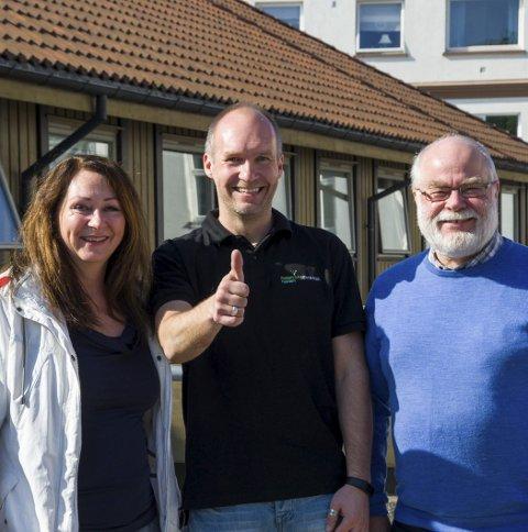 Åpner frisklivssentral: Folkehelserådgiver Gun Kleve (f.v.), frisklivskoordinator Willy Forsell og kommuneoverlege Halvar Bø.