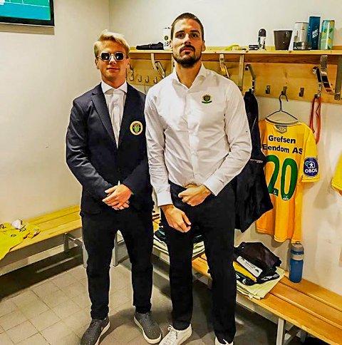 Sebastian Remme Berge sammen med lagkammerat Morten Sundli. Remme Berge har hatt ett år preget av opp- og nedturer.