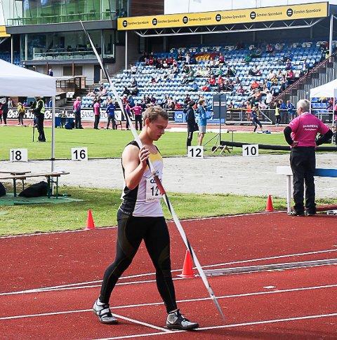 Jarl Bjørklund vant UM-bronse i spyd G18-19.