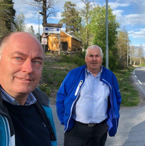 Sammen for Sammen for Livet: Stortingsrepresentant Morten Stordalen og fylkespolitiker Knut Anvik er stolte over å ha fått Sammen for livet inn i Frps alternative statsbudsjett.