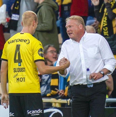 INNLEGGSTRØBBEL: Både LSK-stopper Tobias Salquist (t.v.) og trener Jörgen Lennartsson erkjenner at LSK har problemer med å forsvare seg mot innlegg. FOTO: NTB SCANPIX
