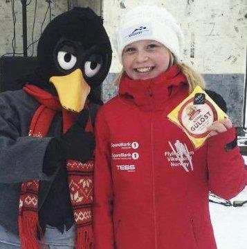NÅDDE MÅLET: Frida Berger vant i hopp med god margin.