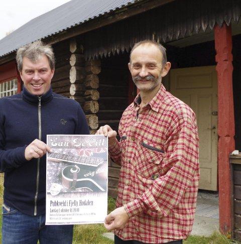 SØMÅDALSBESØK: Pubarrangørene har Eau de Vill på plakaten, og inntektene går til fjellstua som hodølene er sammen om å eie.