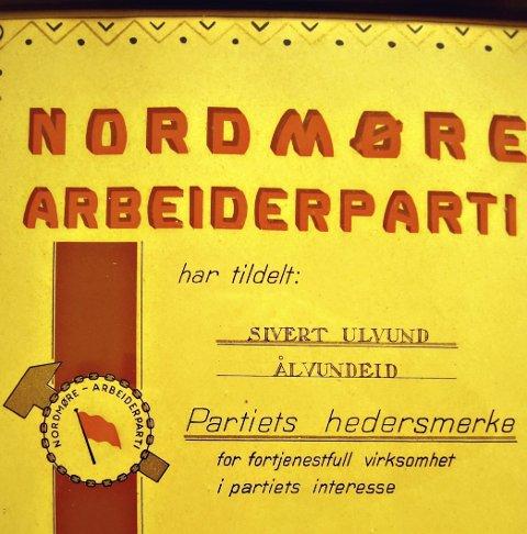 Diplomet: Her er diplomet, sannsynligvis utstedt 29/6 1949.