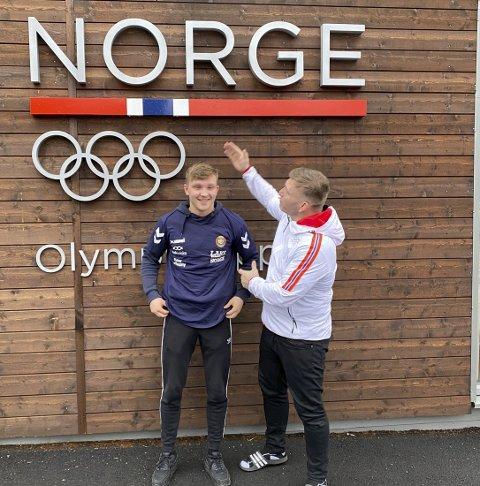 DUO: Mathias Næss og landslagstrener Eren Gjægtvik.