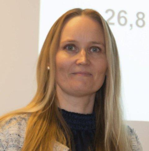 REGNSKAPSRAPPORT: Økonomisjef Malin Westby Skoglund.