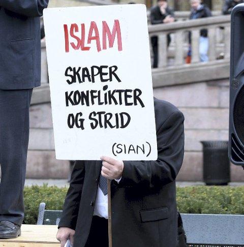 APPELL: Stopp islamiseringen av Norge» (SIAN) vil ha stand i Kongsvinger