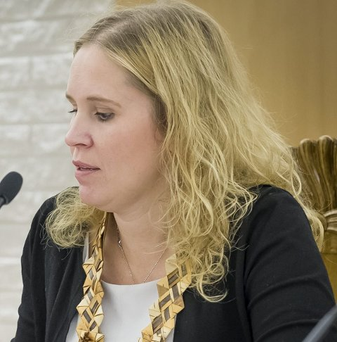 KLAGER: Ordfører Kamilla Thue og kommunestyret klager på Fylkesmannens vedtak.FOTO: JENS HAUGEN