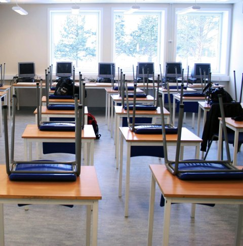 TOMT: Fem studieretninger blir fjernet i distriktet.
