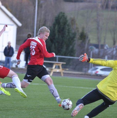 MÅLTYV: Fredrick Tvenge fortsetter i Lunner FK.