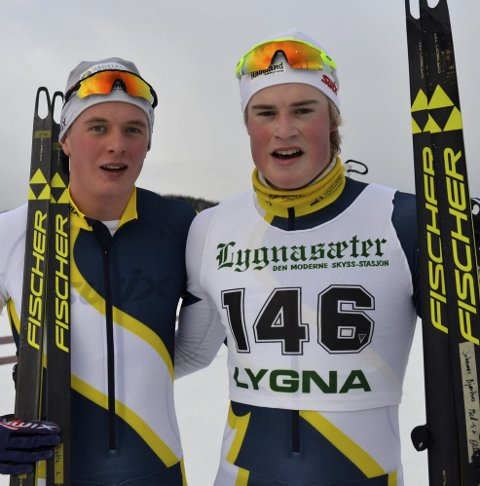 FORNØYD: Johannes Bjertnæs og Vetle Gunnar Lyckander.