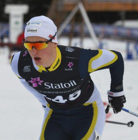 UTSLÅTT: Vetle Gunnar Lyckander fikk det ikke til på sprinten, men synes løpet var bedre enn fredagens ti kilometer fri teknikk.