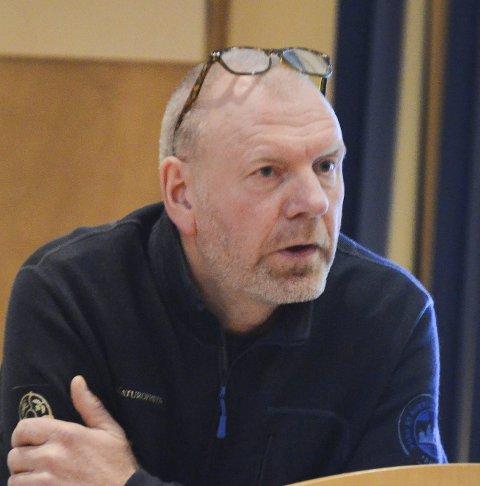 Færre saker: Knut Nylend viste til at det var få jegerar i år.