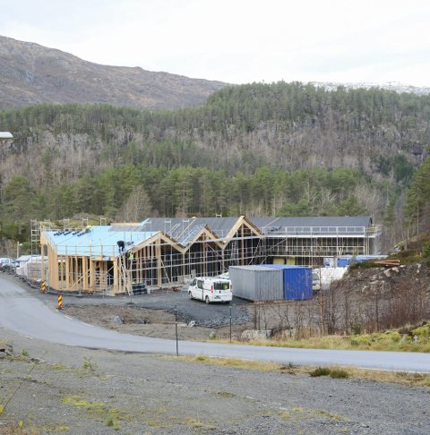 Skare barnehage: Under bygging i fjor høst. Arkivfoto: Ernst Olsen