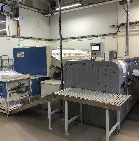 Investert: Vaskeriet har investert to millionar i nytt utstyr.