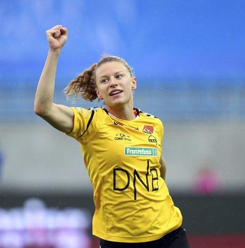KLAR:: Synne Skinnes Hansen jubler for ny cupfinale.