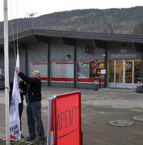 Ganske ny: Nærbutikken Biristrand åpnet november 2014. Arkivfoto