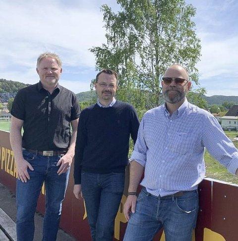 NYE BOLIGER: F.v. Johnson, Christensen og Brekka.