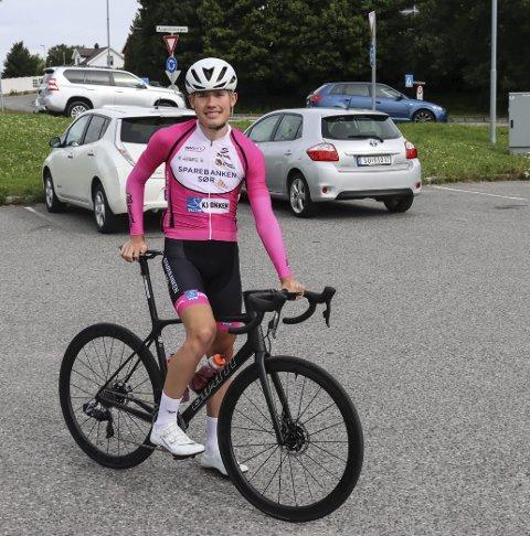 VISTE SEG FRAM: Hovenga-gutten, Dennis Gråsvold (19) viste at han hører til i toppen av norsk sykkelsport under Uno-X Tour Te Fjells.