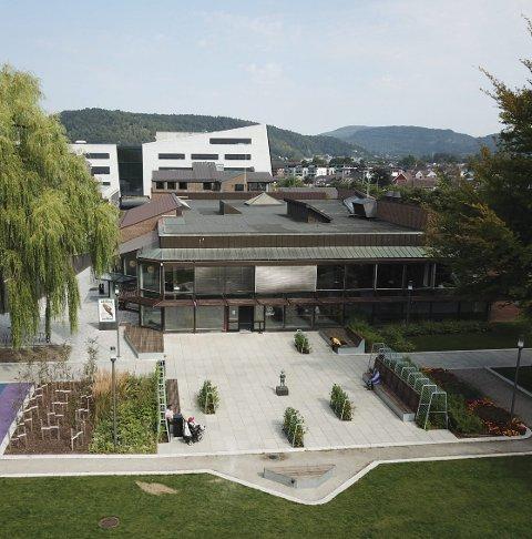 NYTT: Biblioteket er åpnet mot parken.